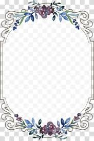Floral Borders For Word Silver And White Floral Frame Borders And Frames Wedding