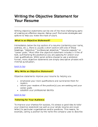 Example Of A Good Objective On A Resume Writing Resume Objective Resume Objective Statement Example Well