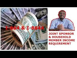 Joint Sponsor Income Chart Joint Sponsor And Household Member Income Requirements I 864 I 864a