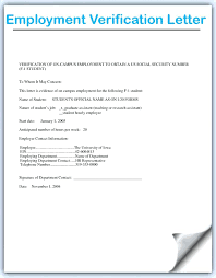 Printable Proof Of Employment Letter Template Job Verification From