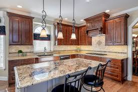view larger image kitchen remodeling ideas dark wood cabinetry light granite aurora naperville il illinois sebring services