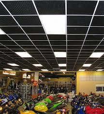 motorcycle showroom this showroom stands out with our black diamond plate ceiling tiles