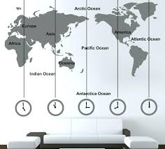 office wall stickers. Wall Decal For Office World Map Wallpaper Sofa Art Stickers U
