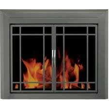 pleasant hearth edinburg metal small cabinet style fireplace doors with smoke tempered glass