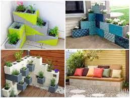 Dá pra usar até em apartamentos. Decoracao Para Area Externa Com Blocos De Concreto Como Fazer Em Casa