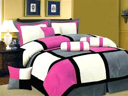 lovely hot pink queen bedding back to washing pink and black comforter set hot pink girl