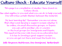 culture shock educate yourself
