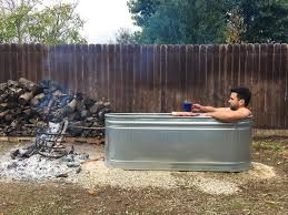 how to make a wood fired stock tank hot tub