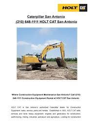 Caterpillar San Antonio (210) 648-1111 by HOLT CAT San Antonio - issuu