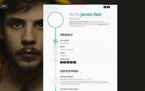 vertica HTML resume cv website template