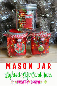diy mason jar ornaments mason jar gift card jar lights