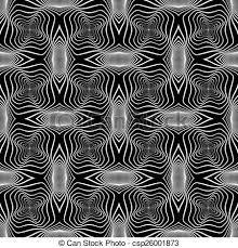 Design Seamless Monochrome Warped Grid Wave Pattern