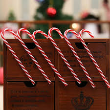 Plastic Candy Cane Decorations 100 Happy New Year 100pcslot Plastic Candy Cane Ornaments 88