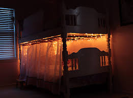bunk bed lighting. cute and fun idea for girlsu0027 bunk bed remove curtain keep lights boys lighting
