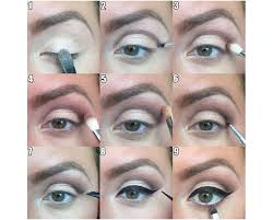steps 1 to 9 of the soft edge smokey eye look makeup lessons with brittany