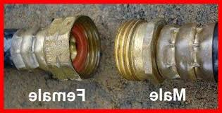 repair the male end of a garden hose
