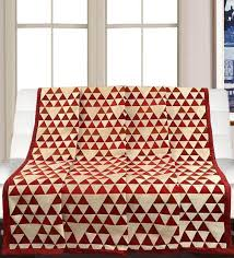 red cotton printed 82x55 inch