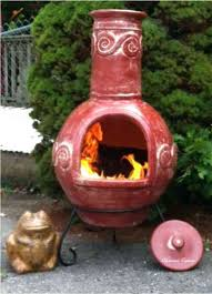 mexican clay chiminea outdoor fireplace slight variations height weight texture craftsmanship color enhance individuality rain cap