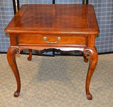 Cherry accent table Coffee Tables Drexel Heritage Queen Anne Style Cherry Accent Table Wdrawer Hsncom Drexel Heritage Queen Anne Style Cherry Accent Table Wdrawer