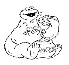 Cookie Monster Coloring Sheets Flawless Cookie Monster Coloring Free