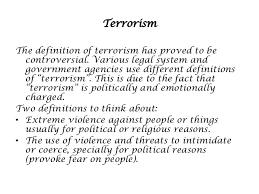 world peace terrorism