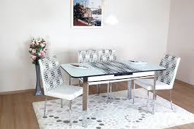 e saving dining room table and chairs always star verve white dining table and chairs extendable