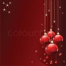 Red colors Christmas and New Year's place card