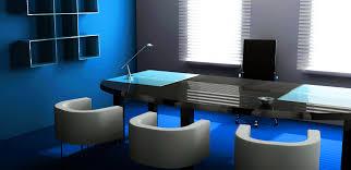 office blue. Blue Office Design L