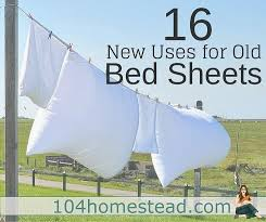 bed sheets are free or inexpensive fabric sources instead of hauling old sheets away in