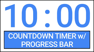 10 Minuite Timer 10 Min Countdown Timer W Progress Bar Timer Countdown