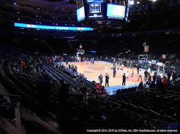 view seating charts new york knicks at madison square garden section 110 view