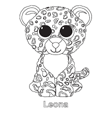 Leona Beanie Boo Coloring Pages Printable