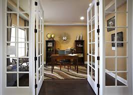 home office doors. Contemporary Home Office With Hardwood Floors French Doors C
