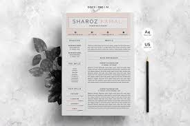 Resume Templates Design Minimalist Resume 4 Pages Pack