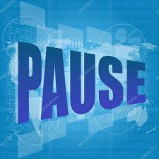 Image result for pause word