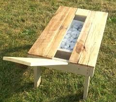 pallet outdoor coffee table re purposed pallet secret beer cooler outdoor coffee table with storage s