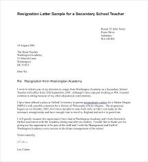 sample teaching resignation letters