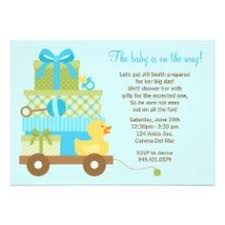 duck baby shower theme invitation wording the baby is on the way let s get