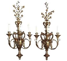 chandelier candle wall sconce antique crystal style three candles lighting holder