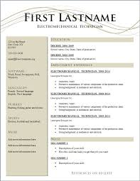 Resume And Cover Letter Resume Templates Free Download Sample