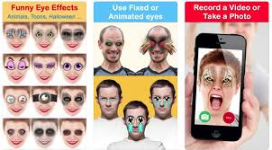 crazy bug eyes changer booth funny eye makeup is an all in one funny photo editing application that changes the way your eyes will look in a video or