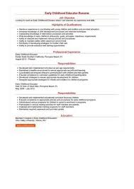 Early Childhood Education Resume Adorable Early Childhood Education Resume Inspirational Early Childhood
