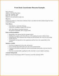 Front Desk Receptionist Sample Resume Resume Examples For Receptionist Luxury Front Desk Receptionist 6
