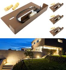 Srrb Direct Low Voltage Hardscape Paver Recessed Retaining Wall Step Light Fixture W Led Bulb 4 Warm White Led