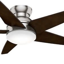 hunter westside ii ceiling fan hunter contempo 52 in indoor brushed nickel with
