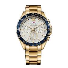 men s watches designer fashion watches h samuel tommy hilfiger men s white dial gold plated bracelet watch product number 3837408