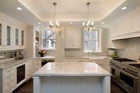 magnificent kitchen chandeliers traditional tray ceiling kitchen traditional with crystal chandeliers corbels