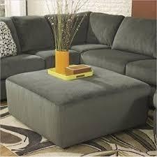 Flash Furniture Jessa Place Oversized Ottoman, Pewter Fabric