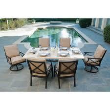 costco patio furniture dining sets. costco: travers 7-piece patio dining set costco furniture sets