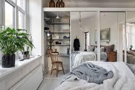 desk in small bedroom. Delighful Small A Small Desk In Closet Scandi Apartment Inside Desk In Small Bedroom D